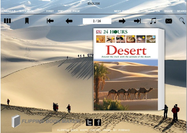 desert templates for Wise PDF to Flipbook Pro